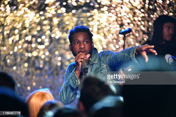 """Leon Bridges performs at the IHG """"Legends, Unmatched"""" party at the Kimpton Hotel Eventi on August 21, 2019 in New York City."""