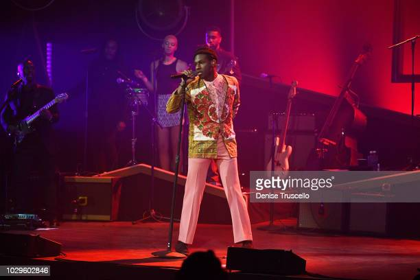 Leon Bridges performs at the Pearl Concert Theater at Palms Casino Resort on September 8, 2018 in Las Vegas, Nevada.