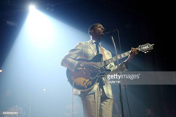 Leon Bridges performs at Webster Hall on October 21, 2015 in New York City.