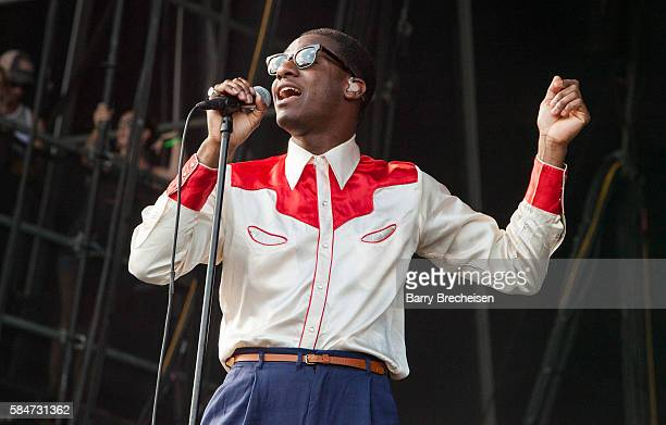 Leon Bridges performs during 2016 Lollapalooza Day Three at Grant Park on July 30 2016 in Chicago Illinois