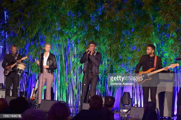 Leon Bridges performs during the Hammer Museum 16th Annual Gala in the Garden with generous support from South Coast Plaza at the Hammer Museum on...