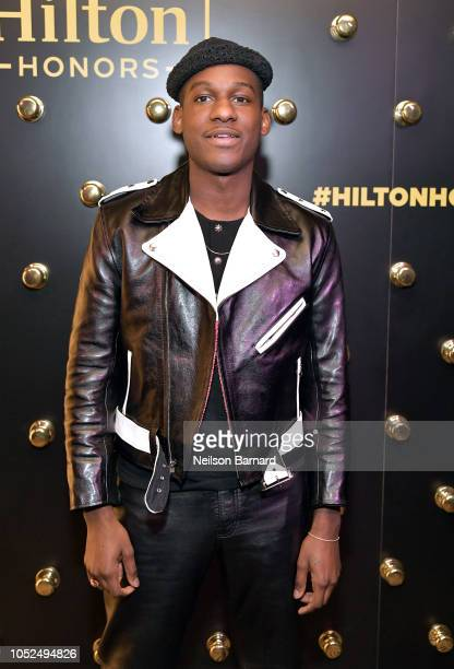 Leon Bridges performs exclusively for Hilton Honors Members at Waldorf Astoria Beverly Hills on October 18 2018 in Beverly Hills California