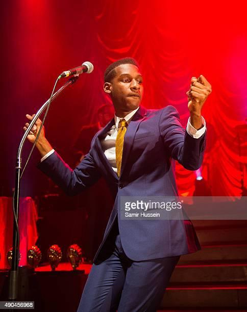 Leon Bridges performs live at O2 Shepherd's Bush Empire on September 28, 2015 in London, England.