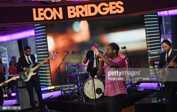 AMERICA Leon Bridges performs live from Times Square Studios on 'Good Morning America' as part of the GMA Summer Concert series on Friday August 17...