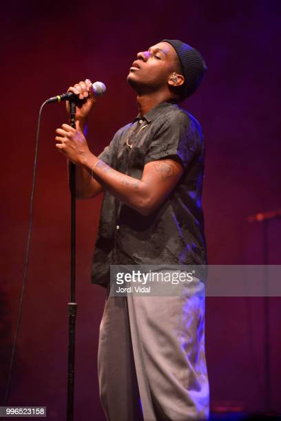 Leon Bridges performs on stage during Festival Jardins de Pedralbes on July 11 2018 in Barcelona Spain