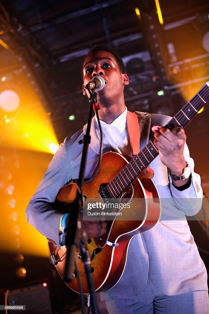 Leon Bridges performs onstage at the Hype/Gorilla vs. Bear showcase during the 2015 SXSW Music, Film + Interactive Festivale at Hype Hotel on March 19, 2015 in Austin, Texas.