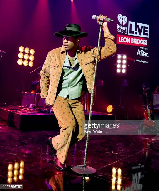 Leon Bridges performs onstage during iHeartRadio LIVE with Leon Bridges Presented by Aflac at the iHeartRadio Theater on February 05, 2019 in...