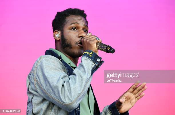 Leon Bridges performs onstage during the 2019 Outside Lands Music And Arts Festival at Golden Gate Park on August 11, 2019 in San Francisco,...