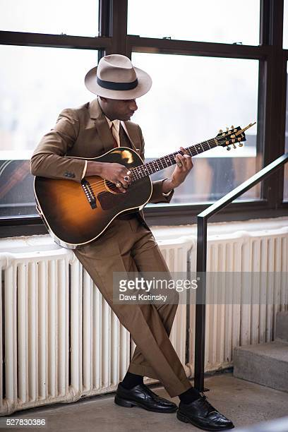 Leon Bridges plays at the Leon Bridges This Is Home New York Premiere at Squarespace on May 3 2016 in New York City