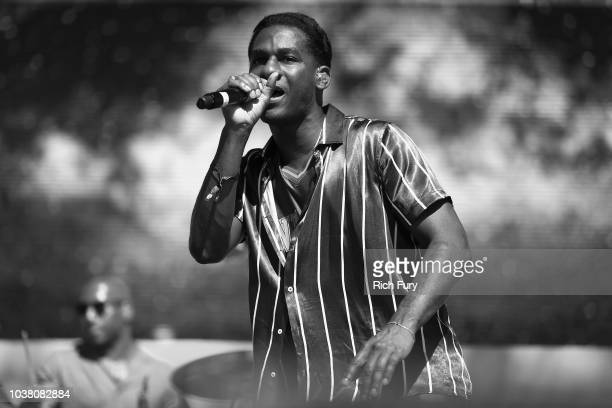 Leon Bridges poses backstage during the 2018 iHeartRadio Music Festival Daytime Stage at the Las Vegas Festival Grounds on September 22, 2018 in Las...