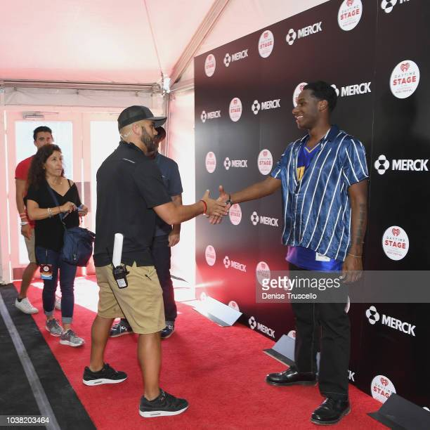 Leon Bridges poses backstage during the 2018 iHeartRadio Music Festival Daytime Stage at the Las Vegas Festival Grounds on September 22 2018 in Las...