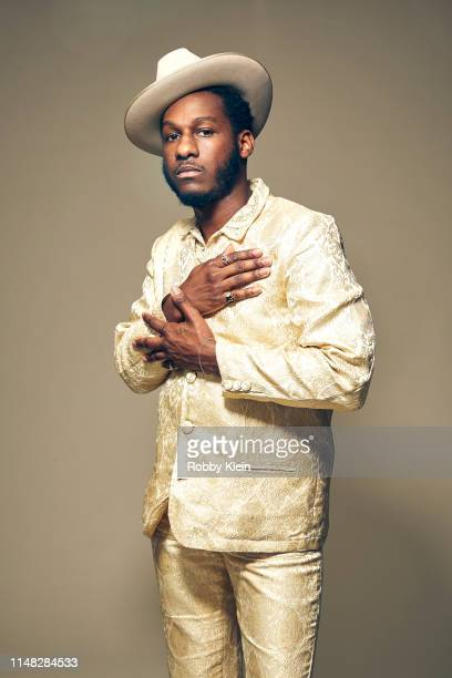 Leon Bridges poses for a portrait during the 2019 CMT Music Awards at Bridgestone Arena on June 05, 2019 in Nashville, Tennessee.