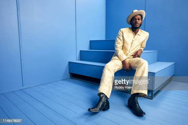 Leon Bridges poses for a portrait during the 2019 CMT Music Awards at Bridgestone Arena on June 5 2019 in Nashville Tennessee