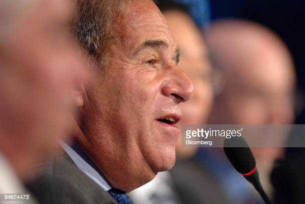 Leon Brittan vice chairman of UBS Ltd speaks during a session of the 2006 World Knowledge Forum in Seoul South Korea on Wednesday October 18 2006