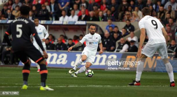 Leon Britton of Swansea City during the Premier League match between Swansea City and Everton at The Liberty Stadium on May 6 2017 in Swansea Wales