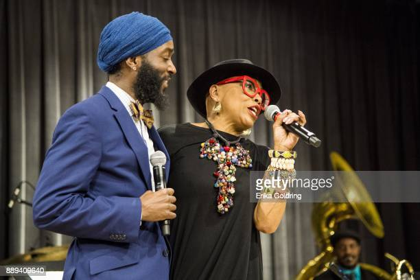 Leon Brown and Dee Dee Bridgewater perform at the New Orleans Jazz Market on December 9 2017 in New Orleans Louisiana
