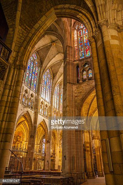 leon cathedral in spain - lancet arch stock pictures, royalty-free photos & images