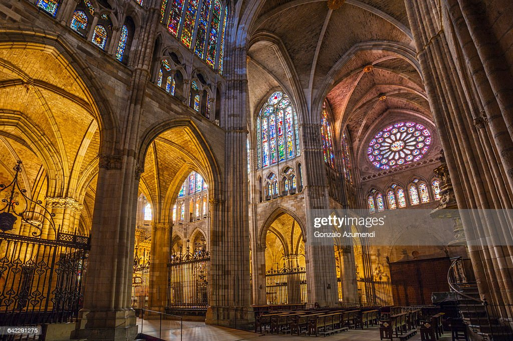 Leon cathedral in Spain : Stock Photo