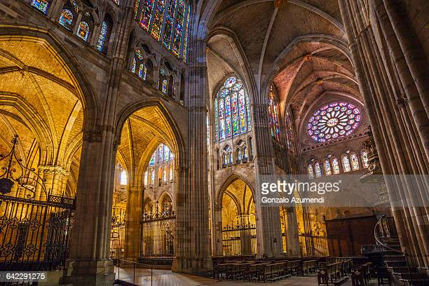 Leon cathedral in Spain