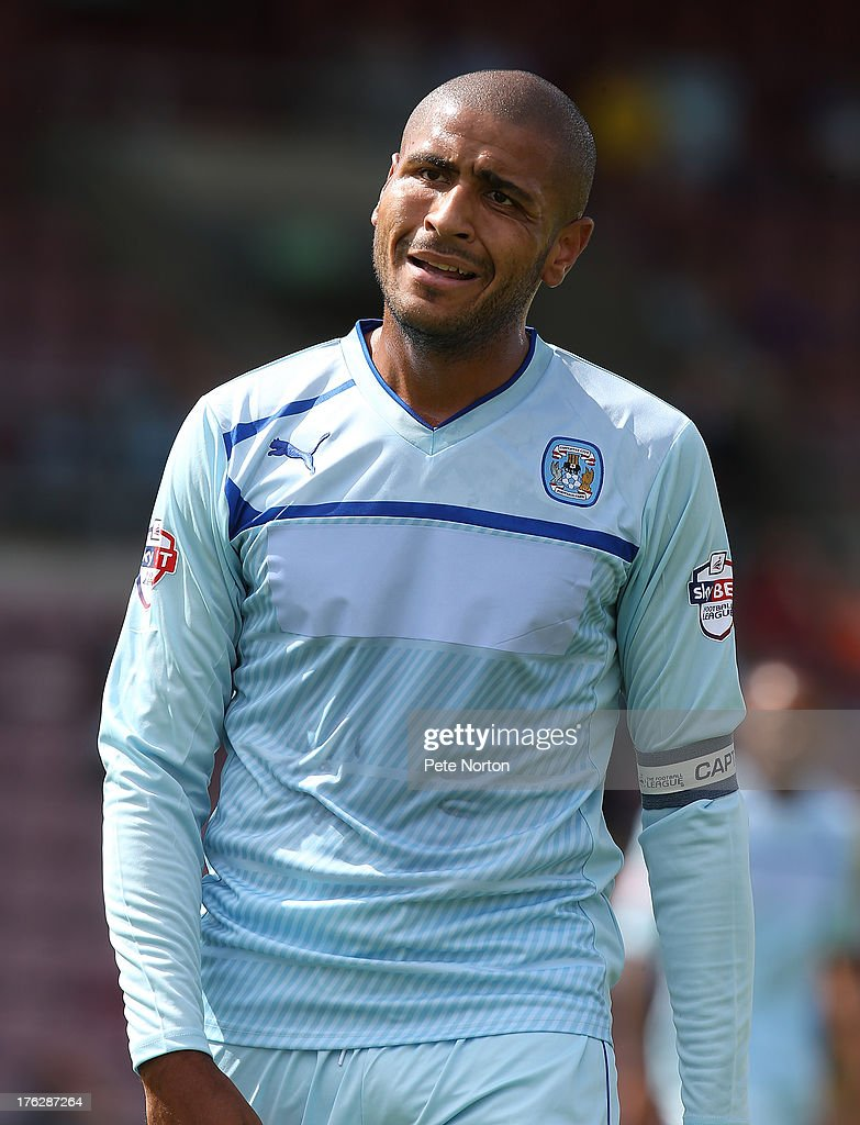 Leon Clarke of Coventry City in action during the Sky Bet League One match between Coventry City and Bristol City at Sixfields Stadium on August 11, 2013 in Northampton, England.