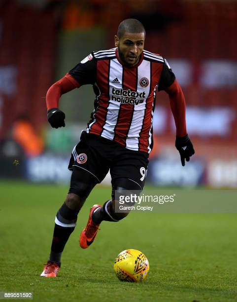Leon Clarke of Sheffield United during the Sky Bet Championship match between Sheffield United and Bristol City at Bramall Lane on December 8 2017 in...