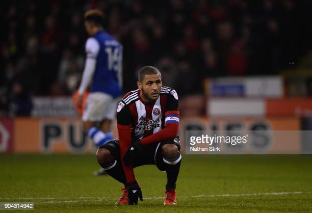 Leon Clarke of Sheffield United looks on after the Sky Bet Championship match between Sheffield United and Sheffield Wednesday at Bramall Lane on...