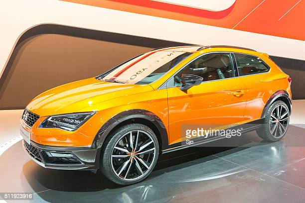 "seat leon cross sport show car - ""sjoerd van der wal"" or ""sjo"" stock pictures, royalty-free photos & images"