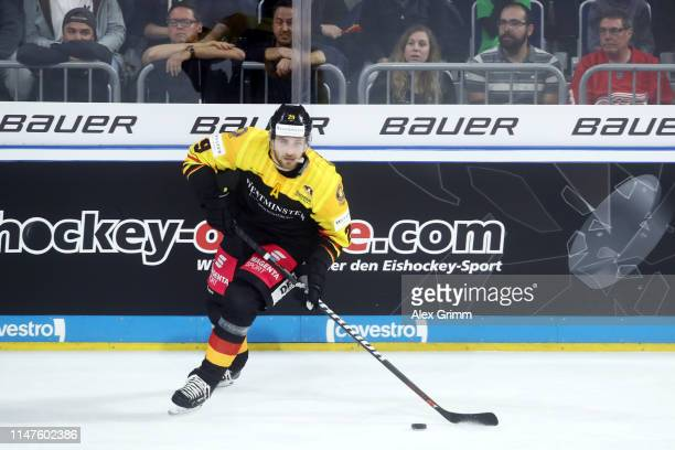 Leon Draisaitl of Germany during the international friendly game between Germany and USA ahead of the 2019 IIHF Ice Hockey World Championship at SAP...