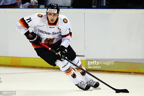 Leon Draisaitl of Germany during the international ice hockey friendly match between Germany and USA at Arena Nuernberger Versicherung on May 6 2014...