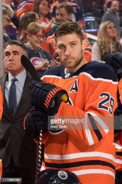 Leon Draisaitl of the Edmonton Oilers during the game against the Los Angeles Kings on October 5 at Rogers Place in Edmonton Alberta Canada