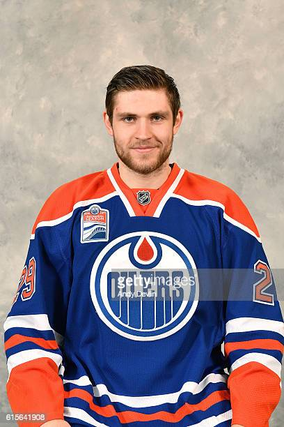 Leon Draisaitl of the Edmonton Oilers poses for his official headshot for the 20162017 season on October 11 2016 at the Rexall Place in Edmonton...