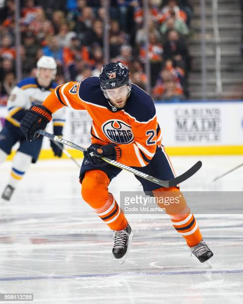Leon Draisaitl of the Edmonton Oilers skates against the St Louis Blues at Rogers Place on December 21 2017 in Edmonton Canada