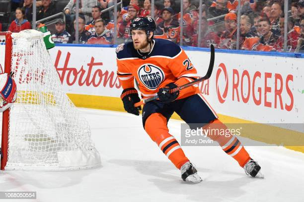 Leon Draisaitl of the Edmonton Oilers skates during the game against the Montreal Canadiens on November 13 2018 at Rogers Place in Edmonton Alberta...