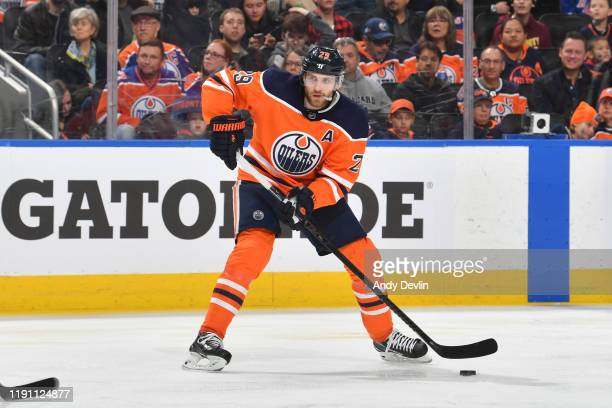 Leon Draisaitl of the Edmonton Oilers skates during the game against the New York Rangers on December 31 at Rogers Place in Edmonton Alberta Canada