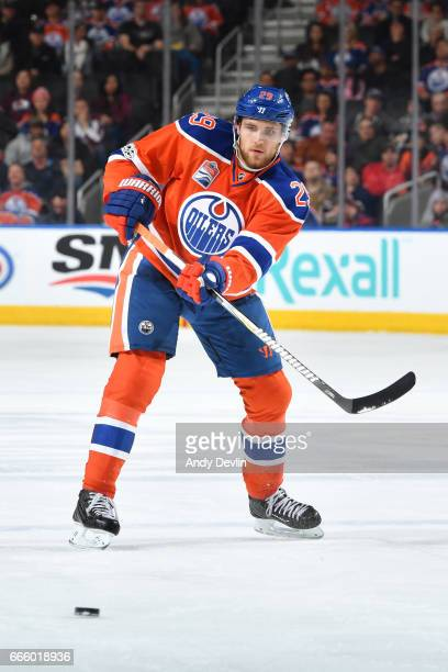 Leon Draisaitl of the Edmonton Oilers skates during the game against the Colorado Avalanche on March 25 2017 at Rogers Place in Edmonton Alberta...