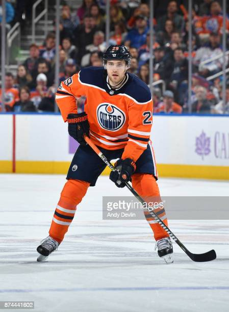 Leon Draisaitl of the Edmonton Oilers skates during the game against the New Jersey Devils on November 3 2017 at Rogers Place in Edmonton Alberta...