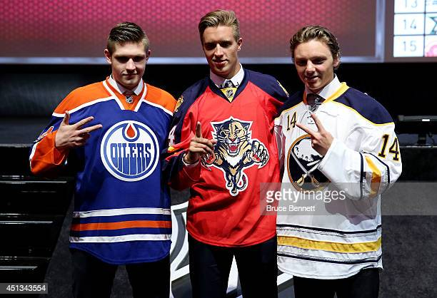Leon Draisaitl third overall pick by the Edmonton Oilers Aaron Ekblad first overall pick by the Florida Panthers and Sam Reinhart the second overall...