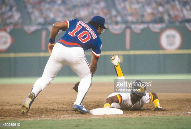 Leon Durham of the Chicago Cubs in action against the San Diego Padres during an Major League Baseball game circa 1984 at Jack Murphy Stadium in San...