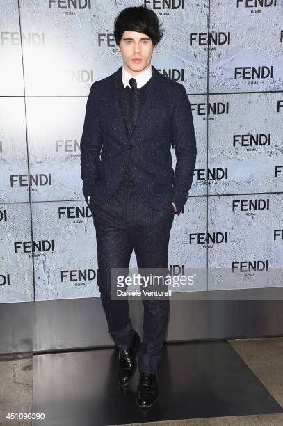 Leon Else attends the Fendi show during Milan Menswear Fashion Week Spring Summer 2015 on June 23 2014 in Milan Italy