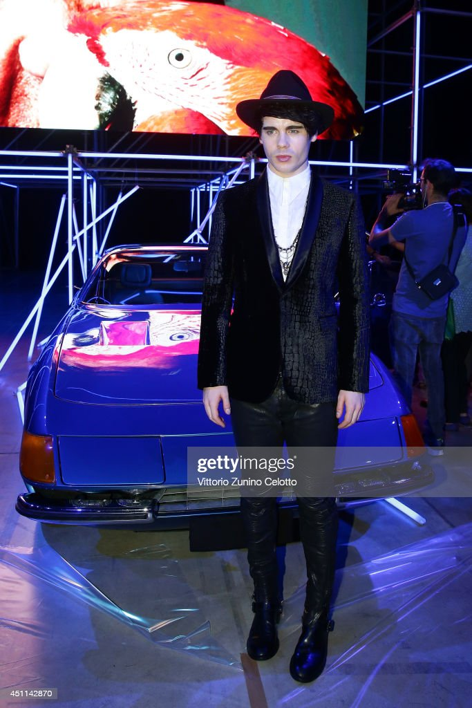Leon Else attends the Roberto Cavalli show during the Milan Menswear Fashion Week Spring Summer 2015 on June 24, 2014 in Milan, Italy.