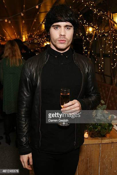 Leon Else attends the Selfridges Nick Wooster Tommy Ton dinner during the London Collections Men AW15 at on January 9 2015 in London England