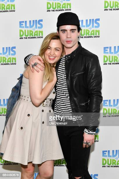 Leon Else poses with Bethany Watson during his visit to 'The Elvis Duran Z100 Morning Show' at Z100 Studio on May 18 2017 in New York City