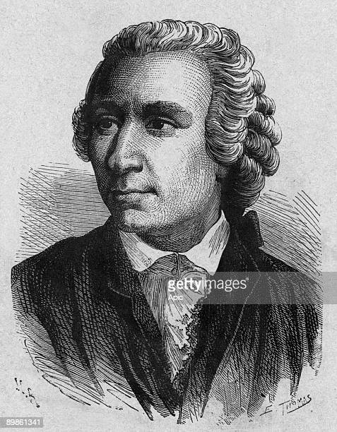 Leon Euler mathematician member of the Academie des Sciences de Petersbourg burning Berlin from the book Album of science famous scientist...