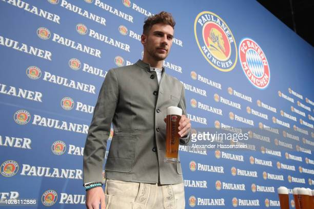 Leon Goertzka of FC Bayern Muenchen during the FC Bayern Muenchen and Paulaner Photo Session at FGV Schmidtle Studios on September 2 2018 in Munich...