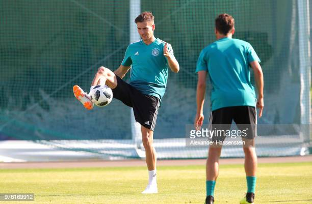 Leon Goretzka in action during the Germany Training Session at Luzhniki Stadium on June 16 2018 in Moscow Russia