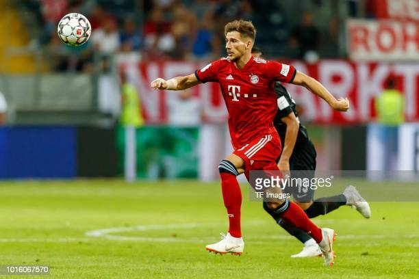 Leon Goretzka of Bayern Muenchen controls the ball during the DFL Supercup match between Eintracht Frankfurt and Bayern Muenchen at CommerzbankArena...