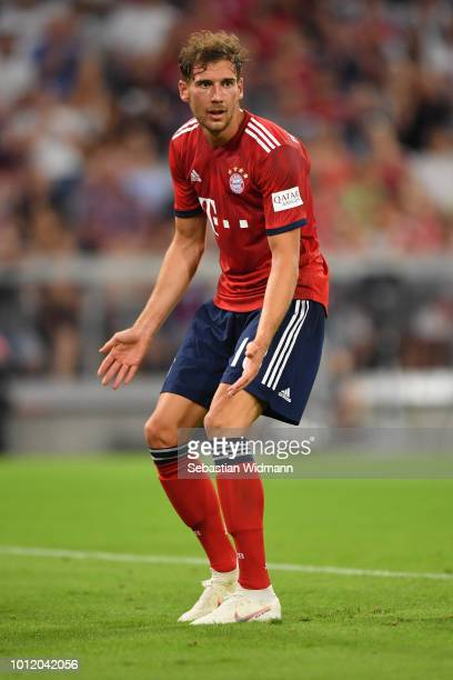 Leon Goretzka of Bayern Muenchen gestures during the friendly match between Bayern Muenchen and Manchester United at Allianz Arena on August 5 2018...