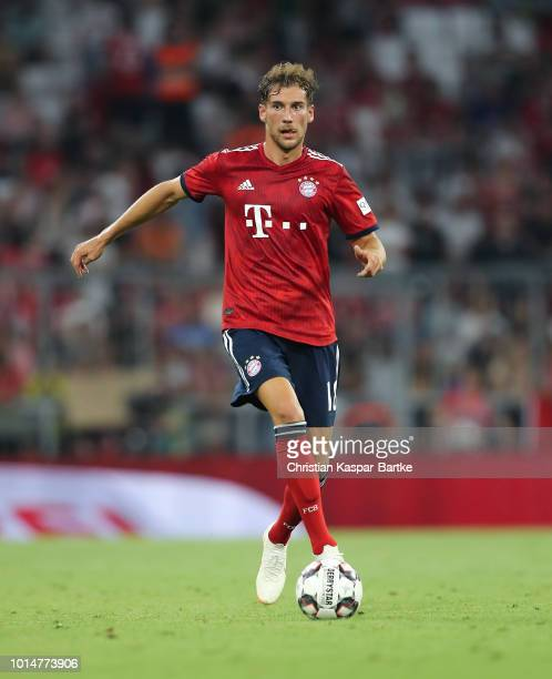 Leon Goretzka of Bayern Muenchen in action during the preseason friendly match between Bayern Munich and Manchester United at Allianz Arena on August...