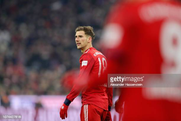 Leon Goretzka of Bayern Muenchen looks on during the Bundesliga match between FC Bayern Muenchen and RB Leipzig at Allianz Arena on December 19 2018...