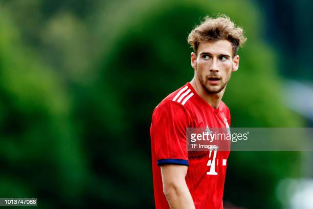 Leon Goretzka of Bayern Muenchen looks on during the friendly match between SV RottachEgern and FC Bayern Muenchen on August 8 2018 in RottachEgern...